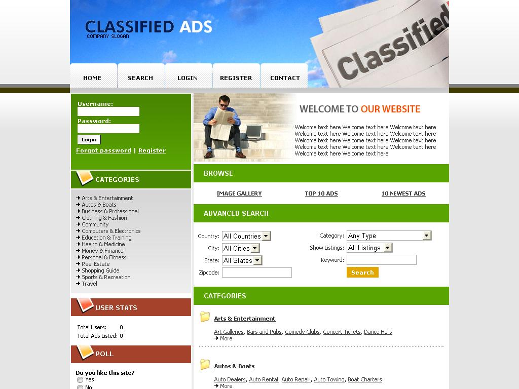 online classifieds ad