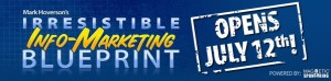 Irresistible Info Marketing Blueprint Banner2